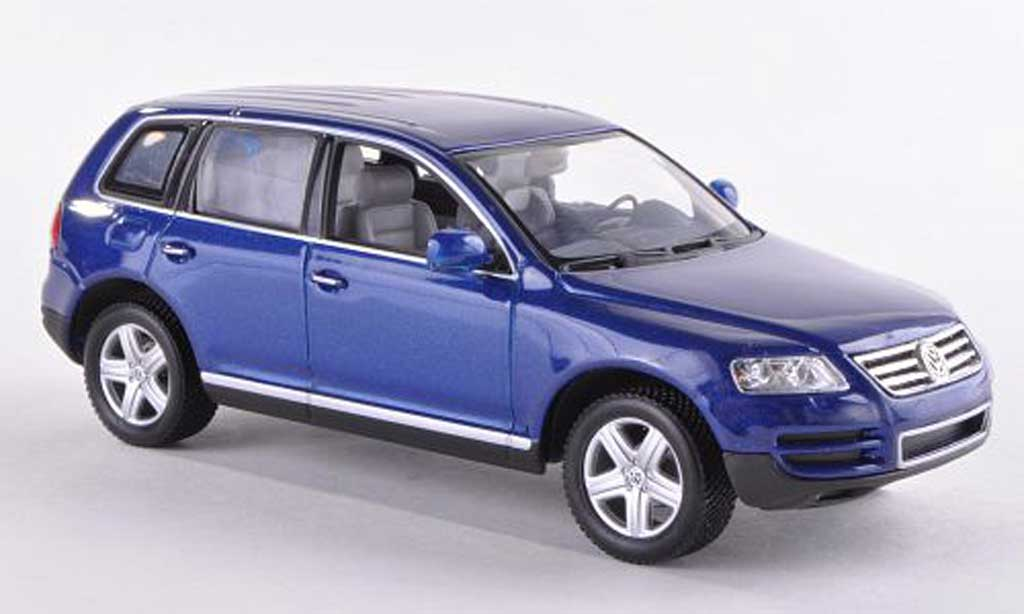Volkswagen Touareg 1/43 Minichamps bleu 2002 miniature