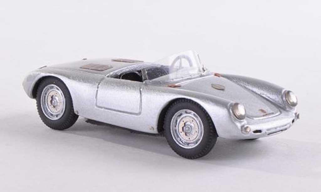 Porsche 550 1952 1/43 Jolly Model Glockner Spyder grise miniature