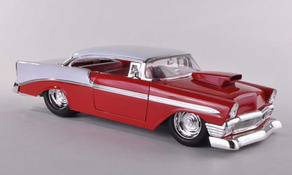 Chevrolet Bel Air 1956 1/18 Jada Toys Hardtop red/white