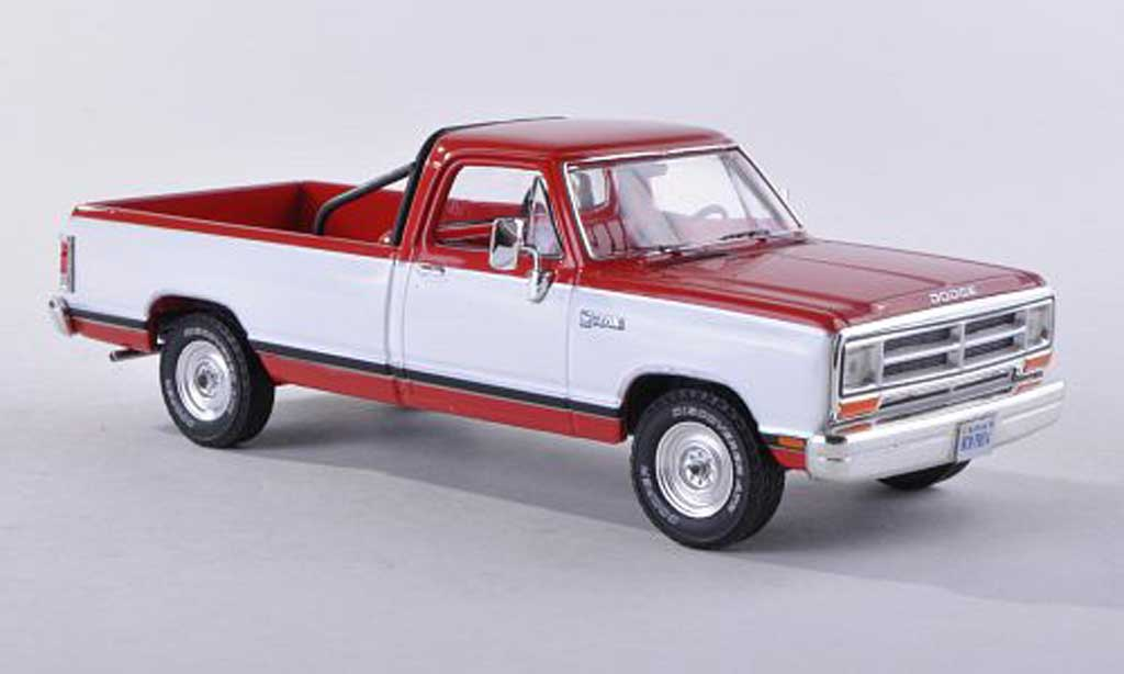 Dodge RAM 1/43 Premium X Pick Up red/white modele special limitee edition 500 piece  1987 diecast