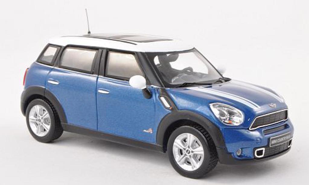 Mini Countryman S 1/43 IXO bleu/blanche 2011 miniature