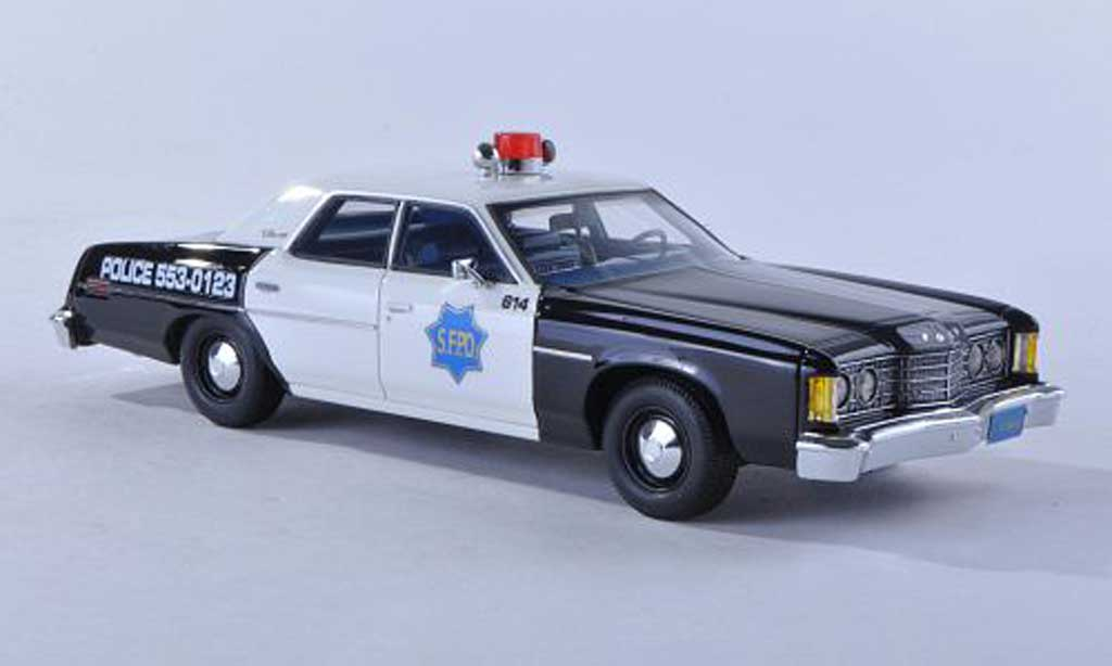 Ford Custom 1974 1/43 Matrix 1974 Douane 500 S.F.P.D. police (USA) miniature