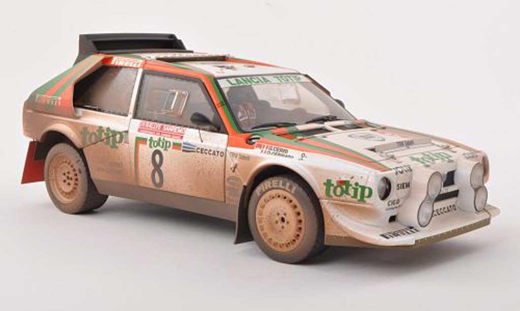 Lancia Delta S4 1/18 Autoart No.8 totip Rally Sanremo 1986 Cerrato/Cerri coche miniatura