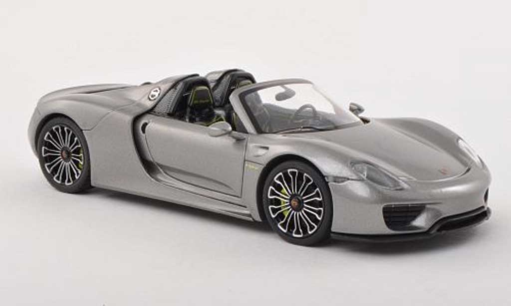 Porsche 918 2013 1/43 Minichamps Spyder gris exposition internationale d' automobile miniature