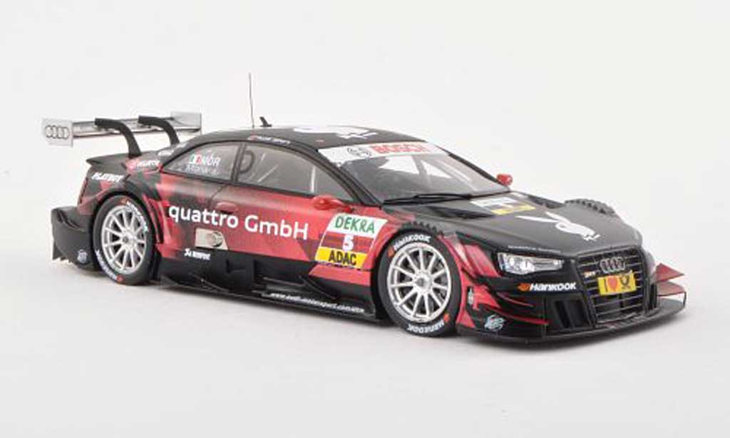 Audi RS5 DTM 1/43 Spark No.5 Playboy -Saison 2013 E.Mortara miniature