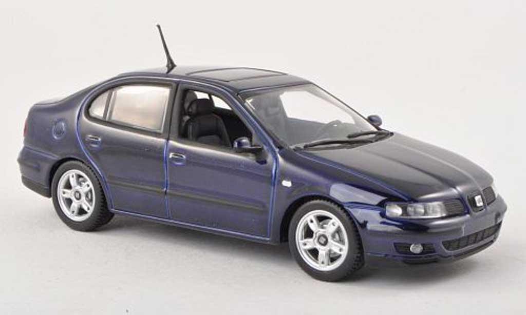 Seat Toledo 1/43 Minichamps noire-bleu miniature