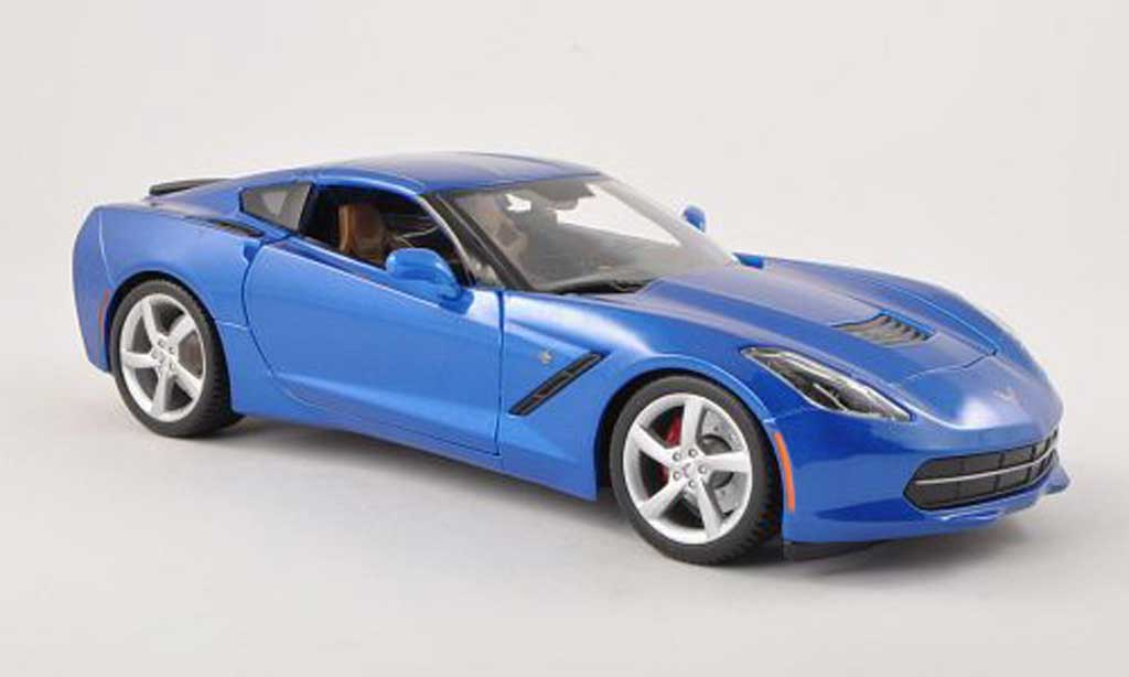 Chevrolet Corvette C7 1/18 Maisto Stingray  bleu miniature