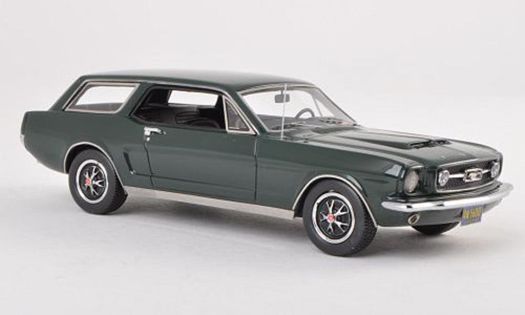 Ford Mustang 1965 1/43 Matrix Wagon noire-vert miniature