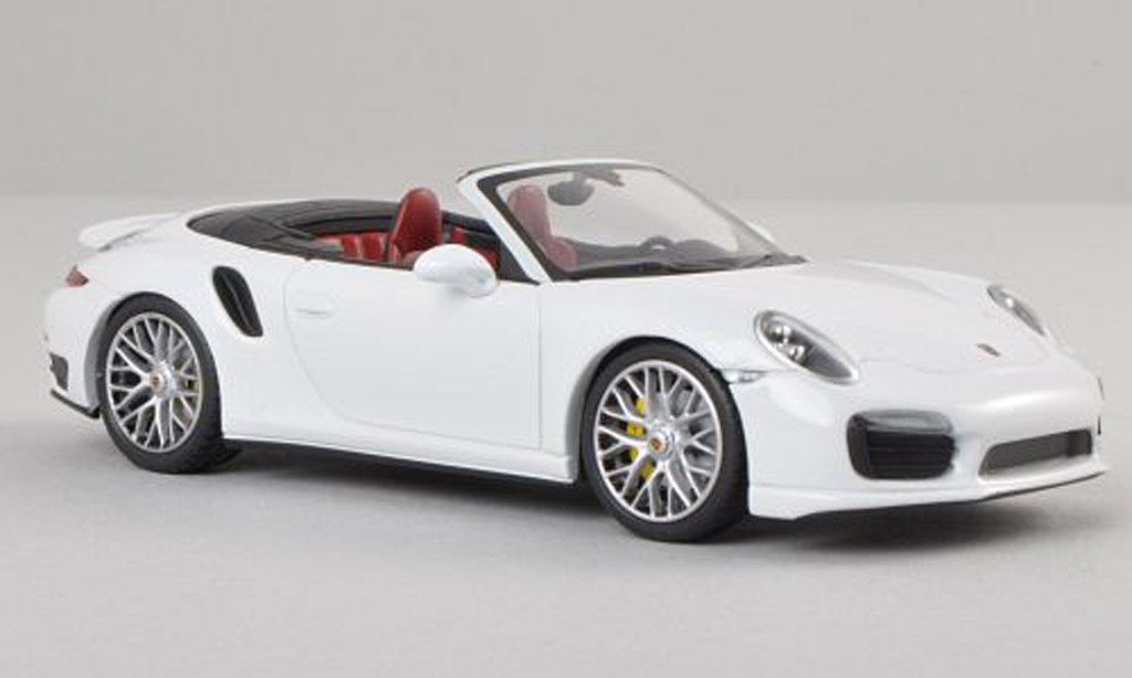 Porsche 991 Turbo S 1/43 Minichamps cabriolet white 2013 diecast model cars