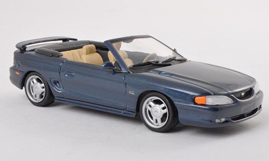 Ford Mustang 1994 1/43 Minichamps 1994 cabriolet bleu miniature