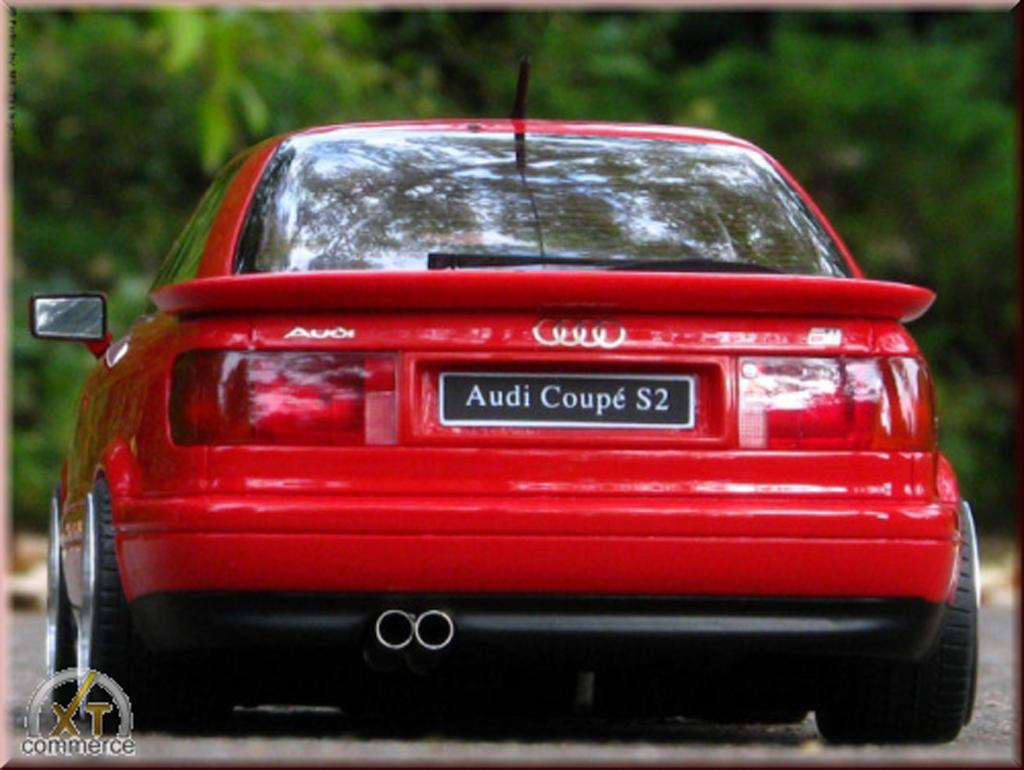 Audi S2 1/18 Ottomobile rosso jantes BBS 18 pouces modellino in miniatura