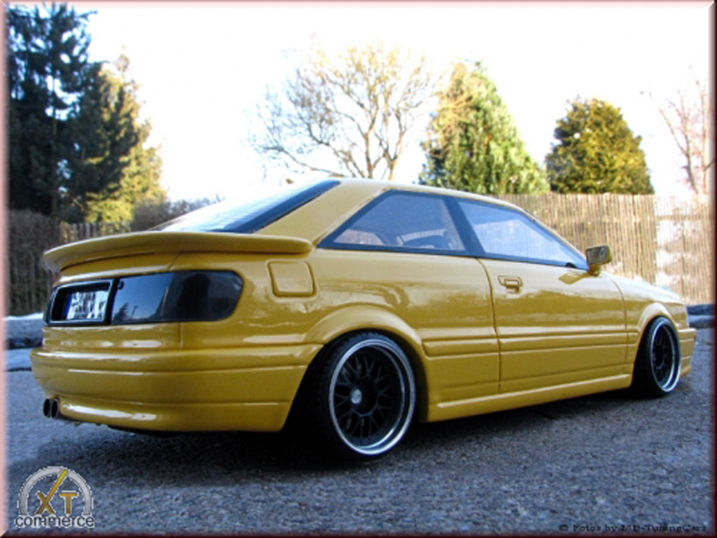 Audi S2 1/18 Ottomobile giallo jantes BBS 17 pouces bord large