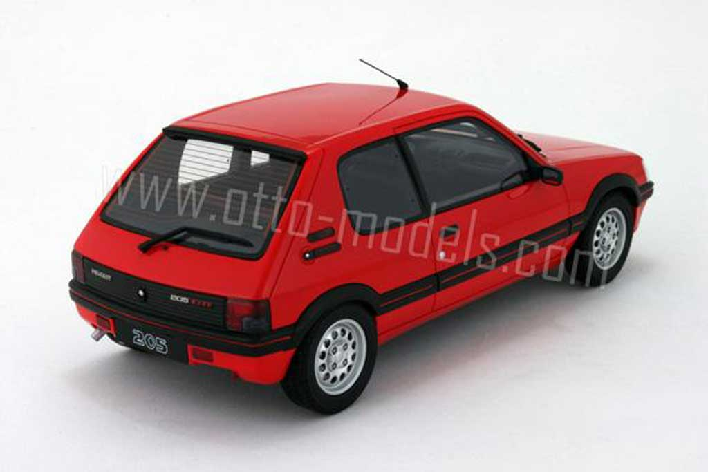 Peugeot 205 GTI 1/18 Ottomobile 1.6 red vallelunga 1991 phase 2 diecast model cars