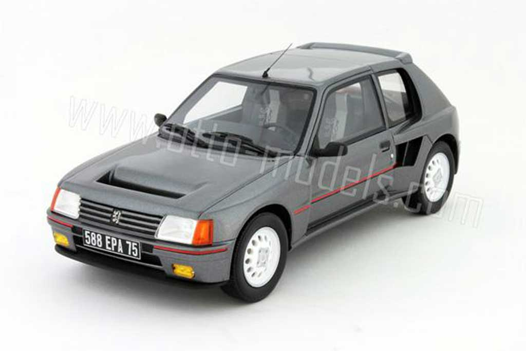 Peugeot 205 Turbo 16 1/18 Ottomobile t16 serie 200 grise 1984 miniature