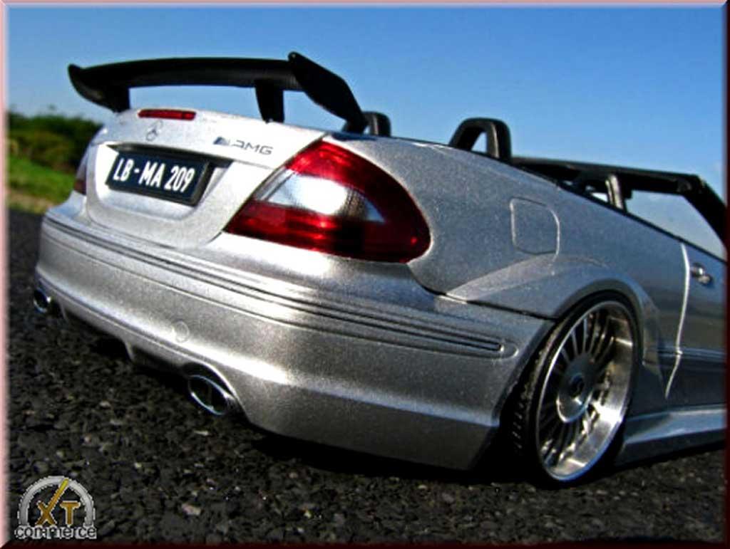 Mercedes Classe CL AMG DTM cabriolet 1/18 Kyosho K AMG DTM cabriolet grise jantes alu alpina 20 pouces