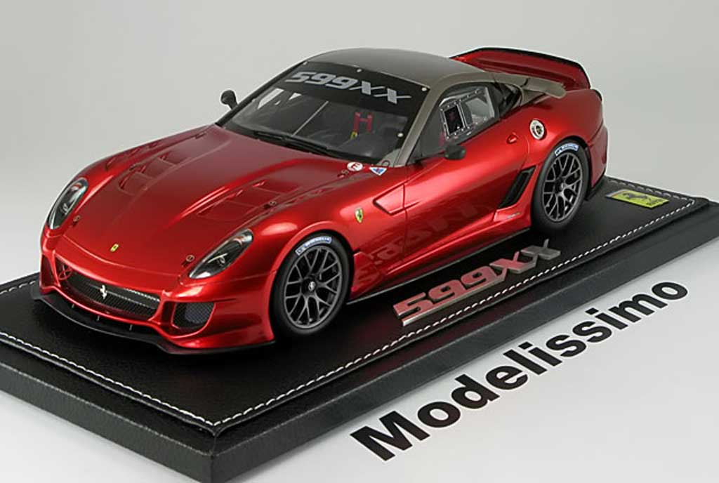 Ferrari 599 XX 1/18 BBR Models race version 2009 red diecast