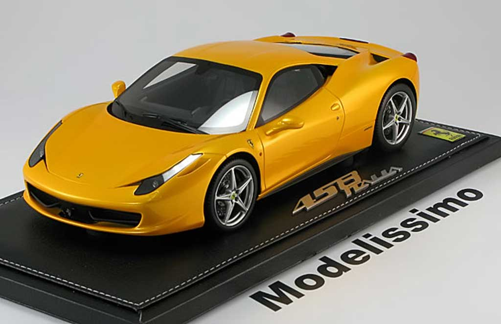 Ferrari 458 Italia 1/18 BBR Models Italia 2009 yellow metallis diecast model cars
