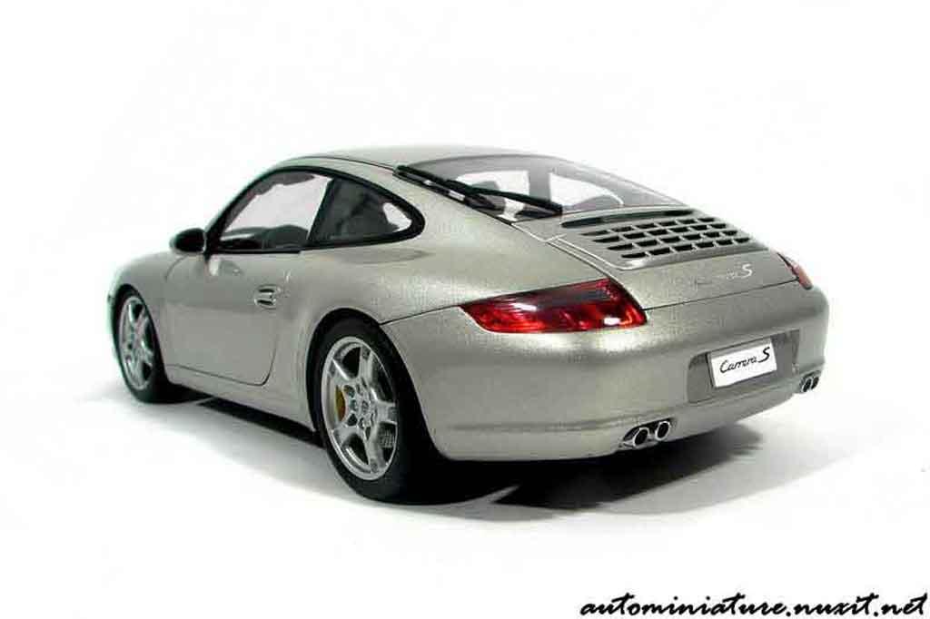 Porsche 997 S 1/18 Autoart Carrera grey polaire diecast model cars