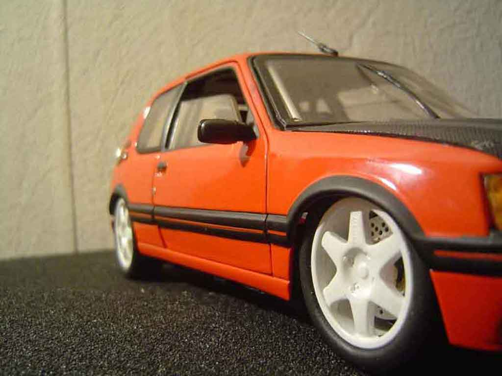 Peugeot 205 GTI 1/18 Solido tuning diecast model cars