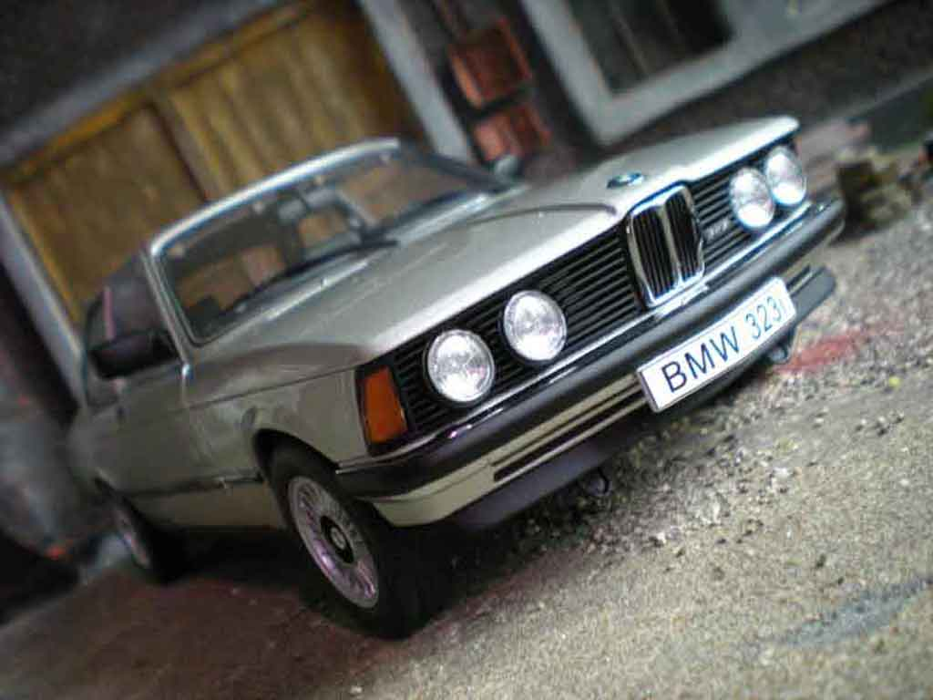 Bmw 323 1/18 Autoart e21 grey argent polaris grey 1977 diecast model cars