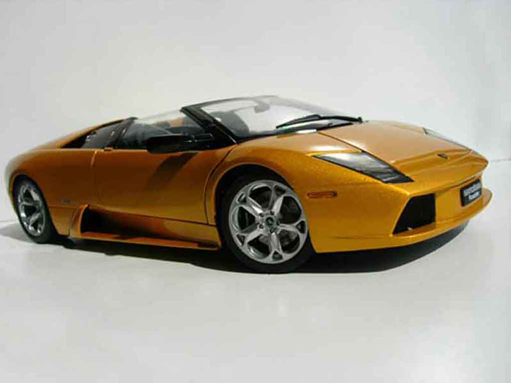 Lamborghini Murcielago Roadster 1/18 Autoart orange miniature