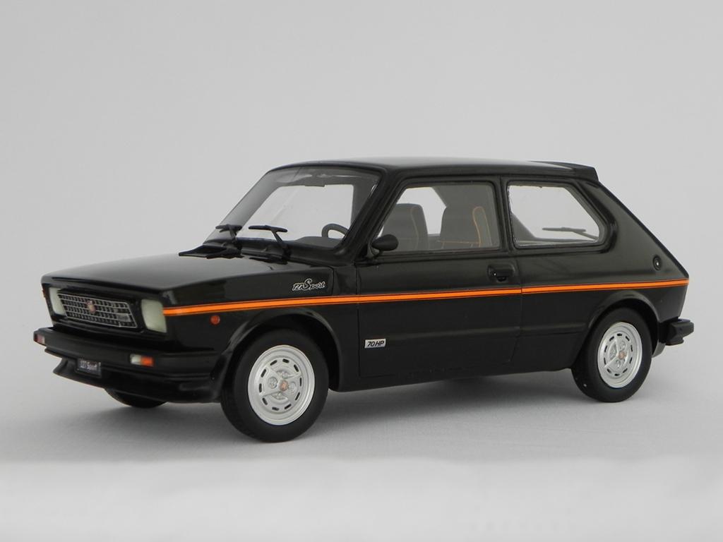 Fiat 127 Sport 1/18 Laudoracing Models 70 HP LM090 noire miniature
