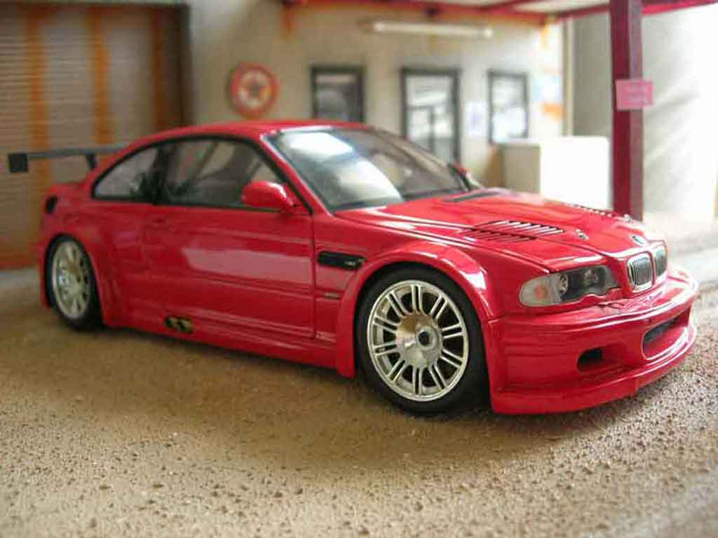 Bmw M3 E46 1/18 Minichamps GTR rouge miniature