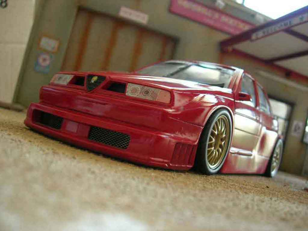 Alfa Romeo 155 1/18 Ut Models q4 preparation tuning miniature