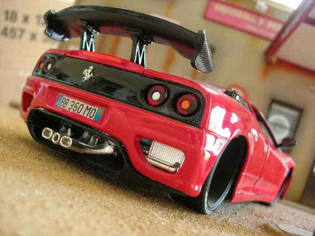 Ferrari 360 Modena 1/18 Burago coupe red diecast model cars