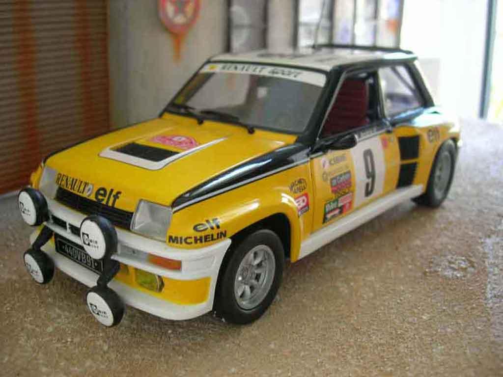 Renault 5 Turbo 1/18 Universal Hobbies rallye ragnotti miniature