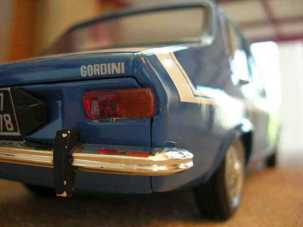 Renault 12 Gordini 1/18 Solido 1971 blue diecast