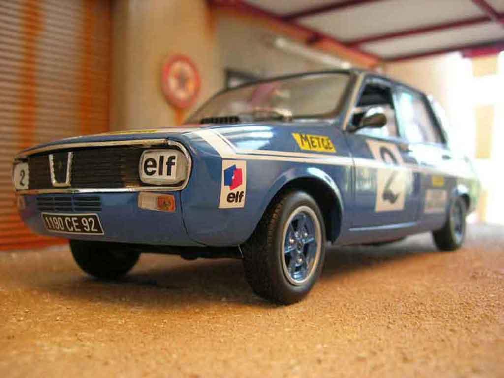 Renault 12 Gordini 1/18 Solido rallye #2 blue diecast
