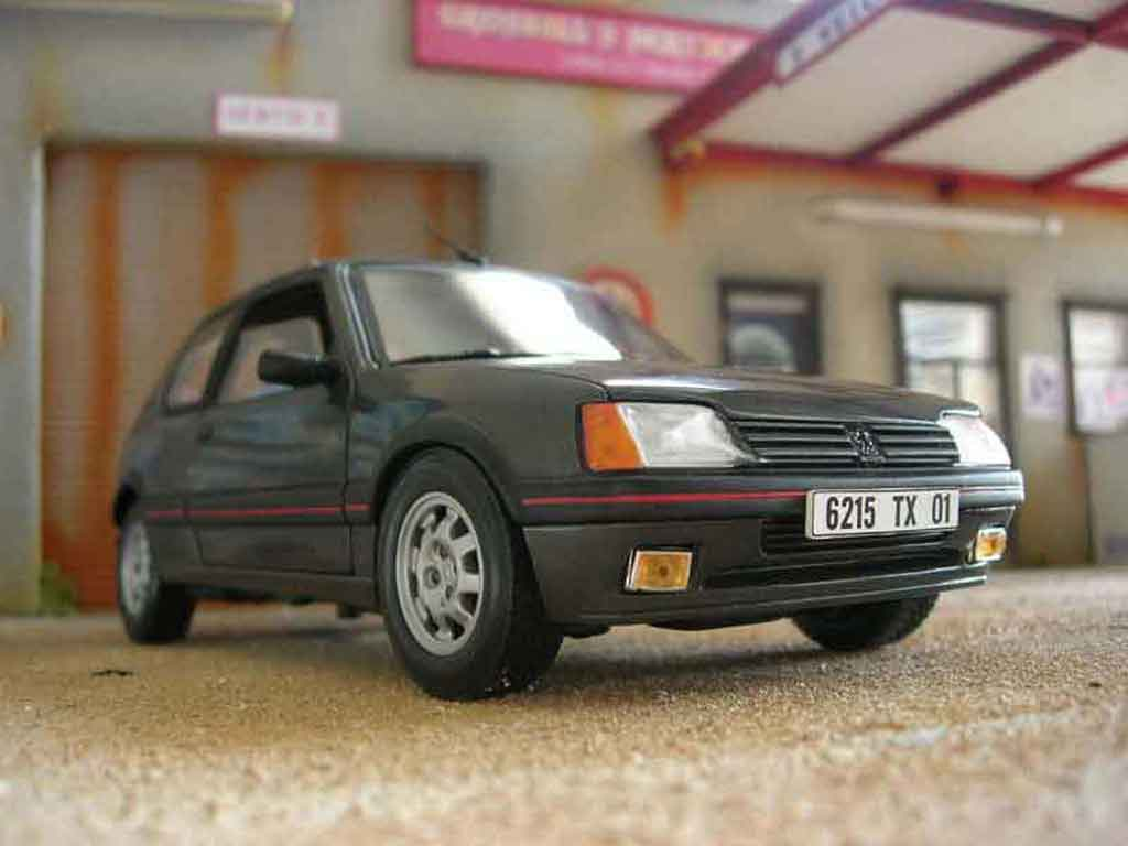 Peugeot 205 GTI 1/18 Solido 1.9 grey graphite diecast model cars