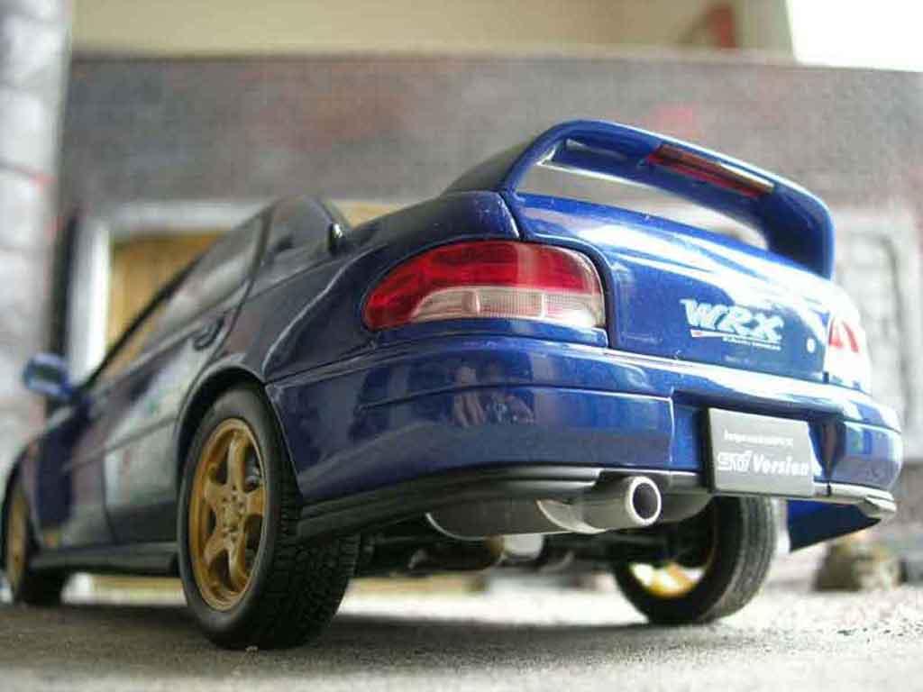 Subaru Impreza STI 1/18 Autoart GT Turbo wrx bleue miniature