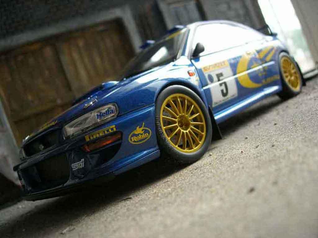 Subaru Impreza WRC 1/18 Autoart r.burns 1999 modellino in miniatura