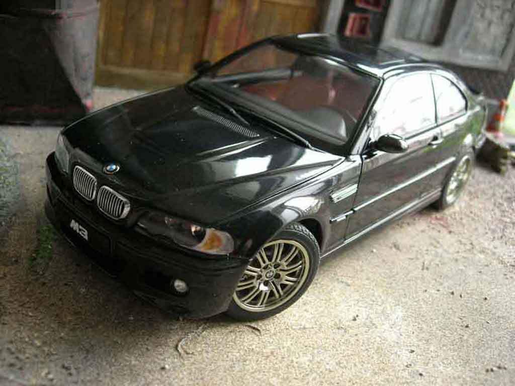 Bmw M3 E46 1/18 Autoart black diecast model cars