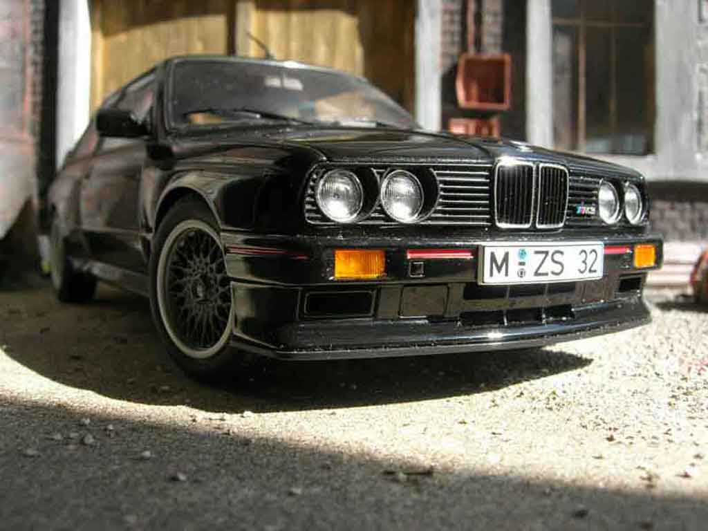 Bmw M3 E30 1/18 Autoart sport evolution black diecast model cars