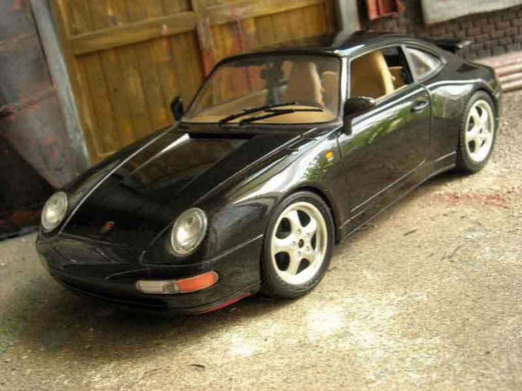 Porsche 993 Carrera 1/18 Burago Carrera 2 noire miniature