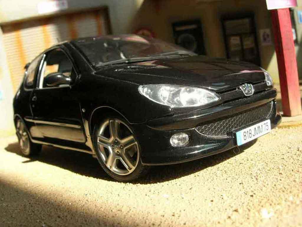 Peugeot 206 RC 1/18 Norev black diecast