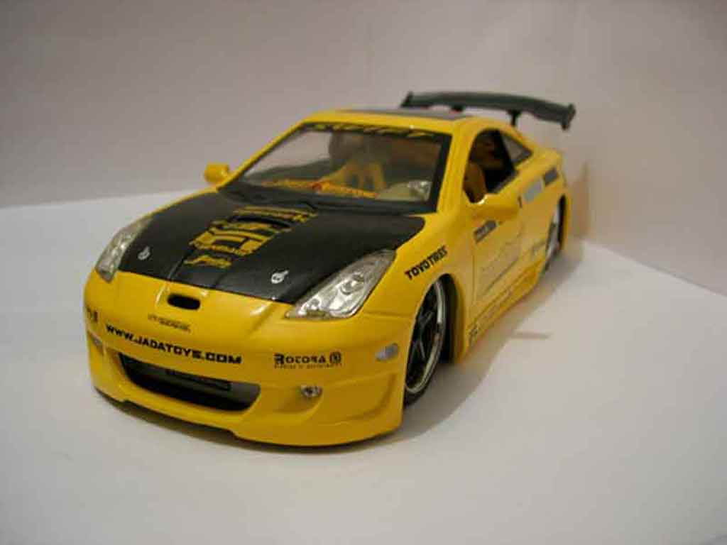 Toyota Celica Import 1/18 Jada Toys Toys Import racer yellow diecast model cars