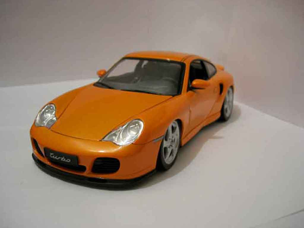 Porsche 996 Turbo 1/18 Hotworks orange diecast model cars
