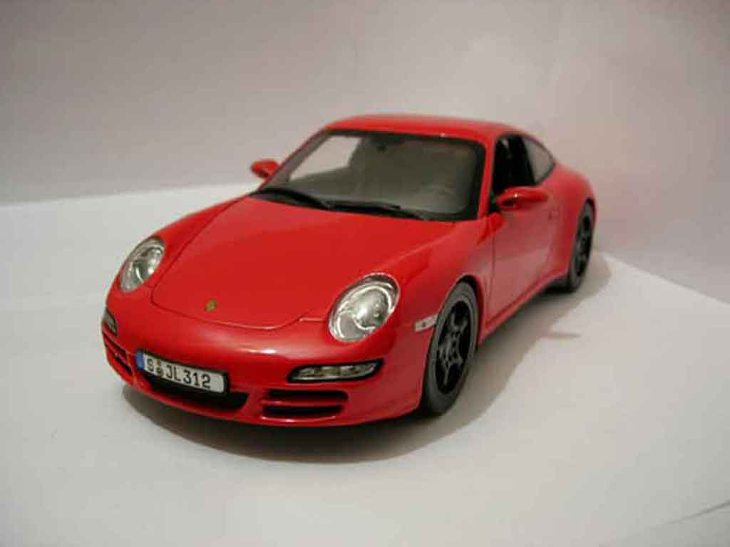 Porsche 997 4S 1/18 Norev red diecast model cars