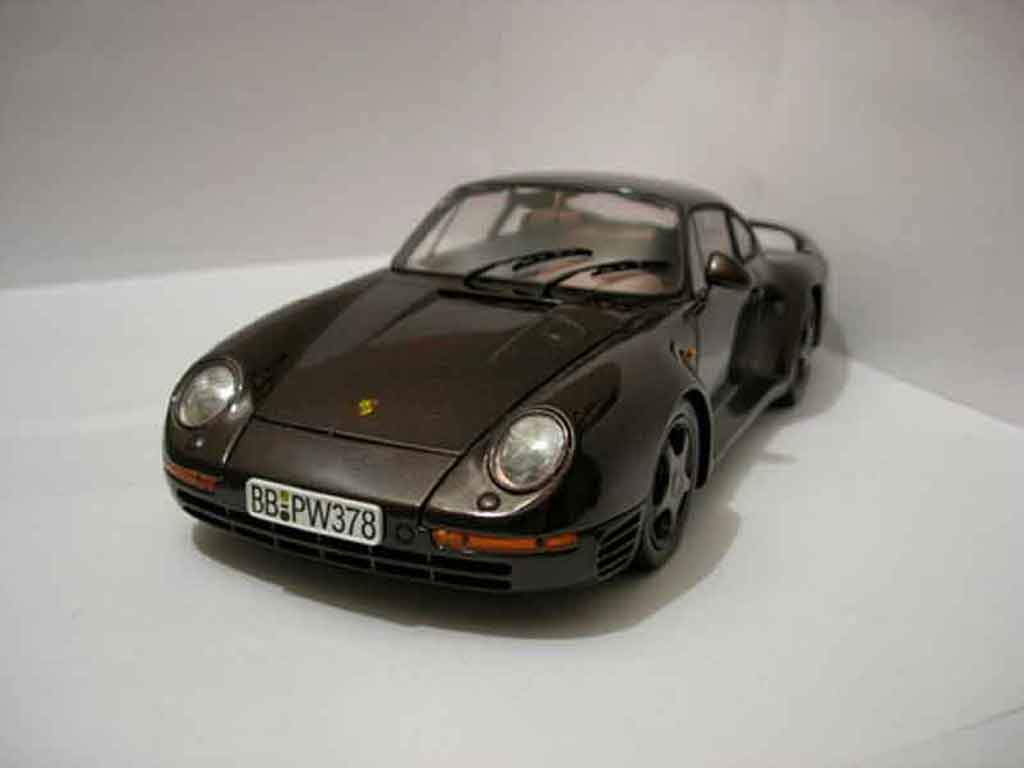 Porsche 959 1985 1/18 Motorbox marron diecast model cars