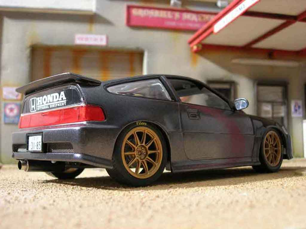 Honda CRX 1/18 Hot Wheels jdm grise miniature