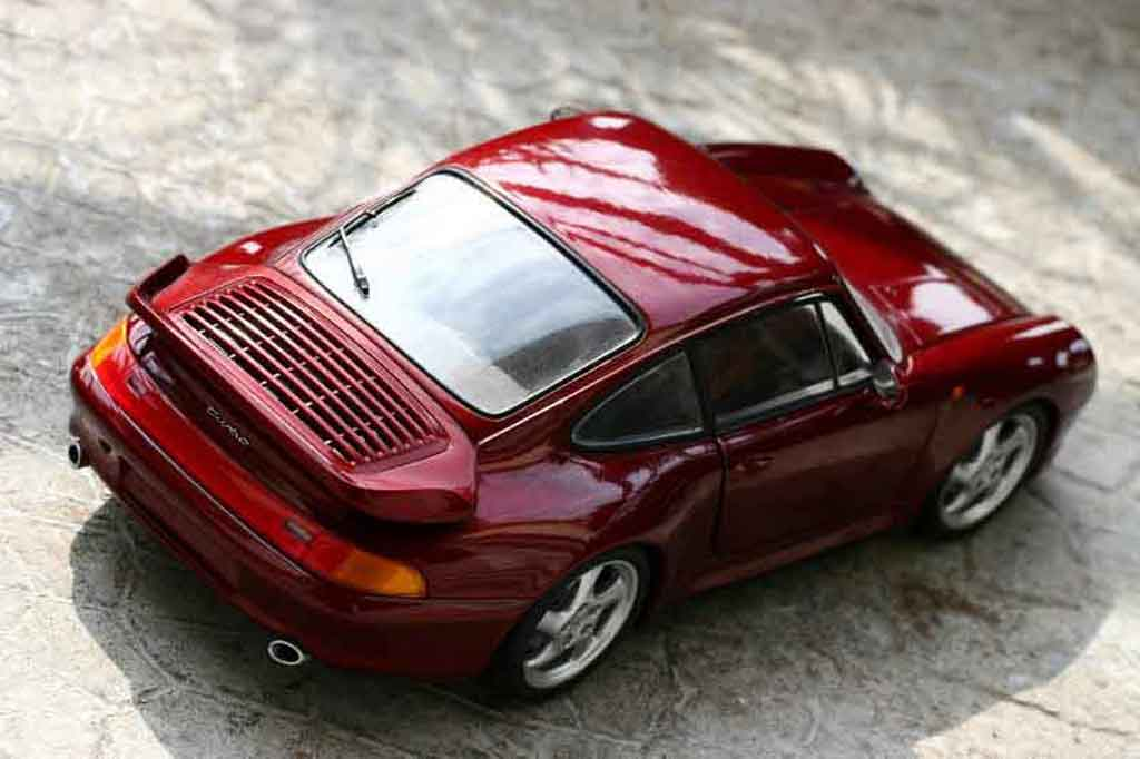 Porsche 993 Turbo 1/18 Ut Models bordeau miniature