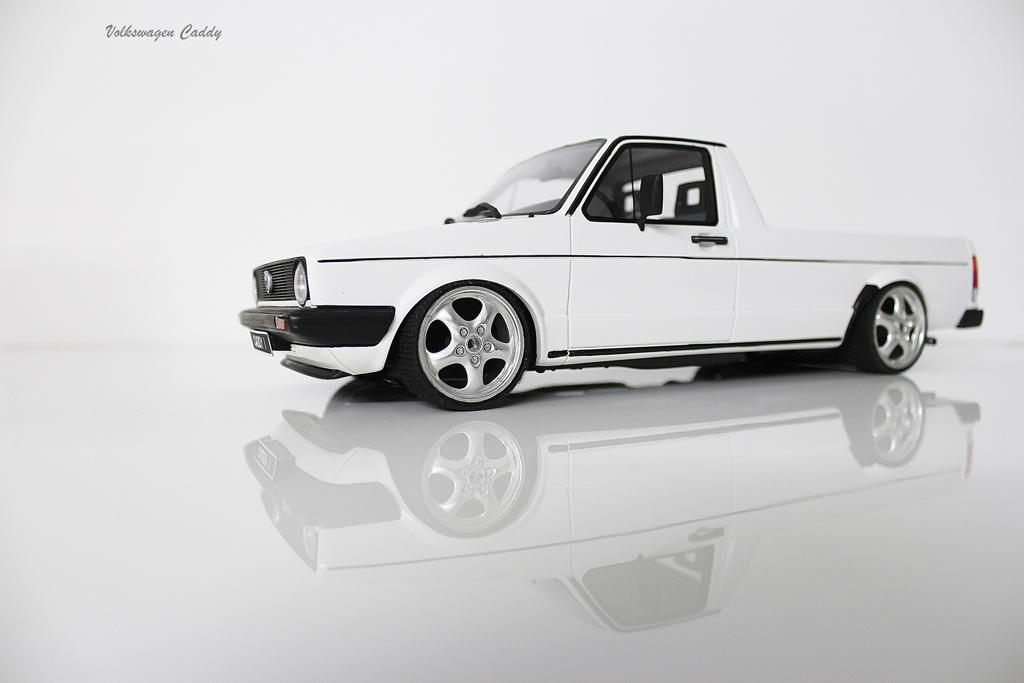 Volkswagen Caddy 1/18 Ottomobile white jantes porsche 17 pouces diecast