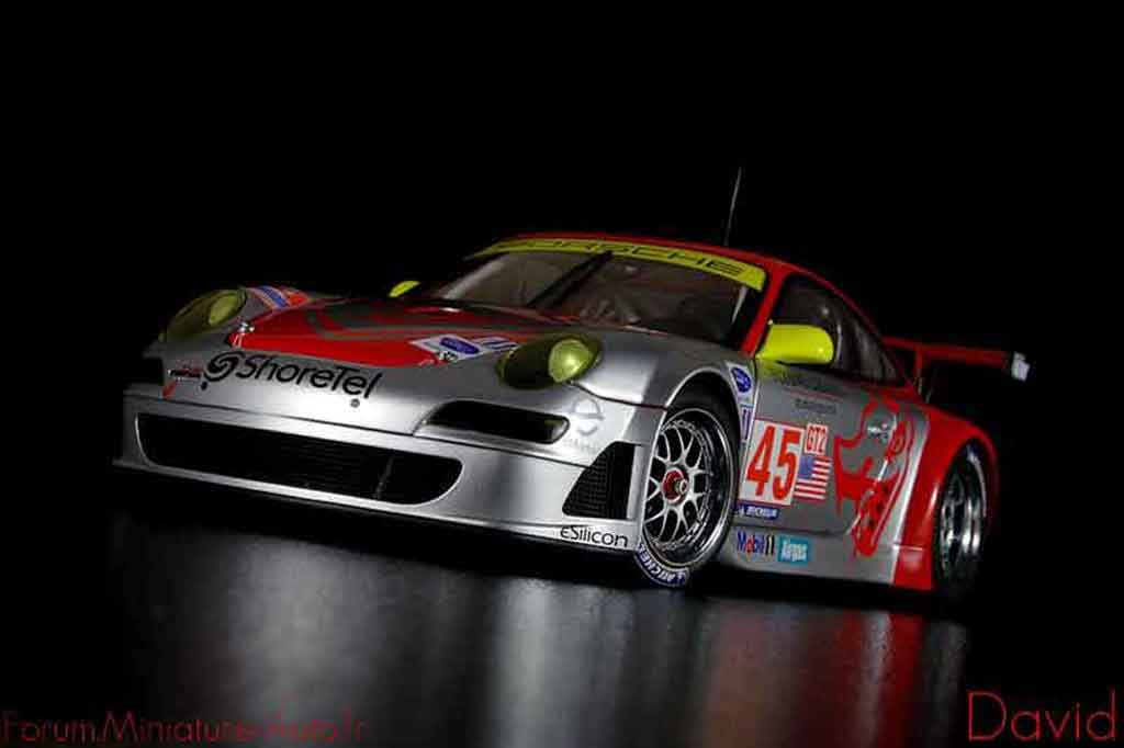 Porsche 997 GT3 RSR 1/18 Autoart 2007 flying lizard #45 alms diecast model cars