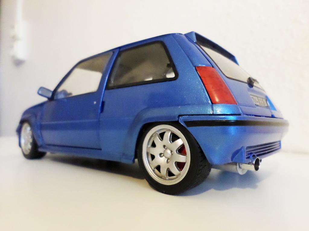 Renault 5 GT Turbo 1/18 Norev jantes speedline 15 pouces bleu miniature