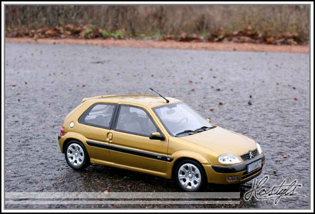 Citroen Saxo 1/18 Ottomobile vts yellow heliodor diecast model cars