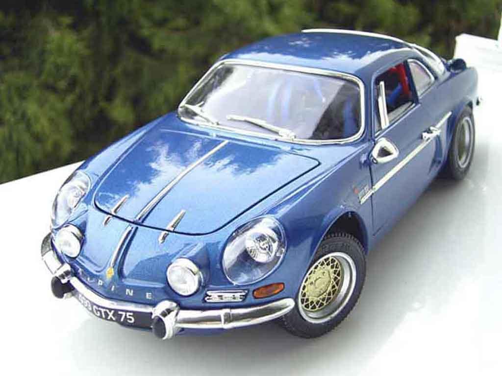 Alpine A110 1/18 Burago blue jantes bbs diecast model cars